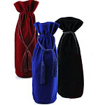 Velvet Wine Bag with matching Drawstring Cord