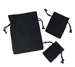 12 Pack Black Cotton Pouch  w/ Black Cords