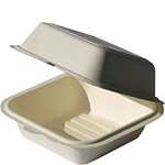 Biodegradable Bagasse Clamshell 8x8x3