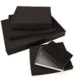 General Purpose Rigid 2 Piece Shallow Black Boxes