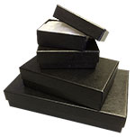 Black Textured Rigid Cotton Filled Set-Up Box