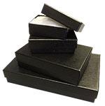 Black Textured Rigid Cotton Filled Set-Up Box