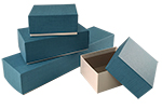 Blue Linen Rigid Gift Boxes