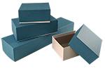 Blue Linen Rigid Gift Boxes