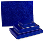 Elegant Blue & Silver 2-Tone Candy Box