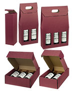Bordeaux Texture Ribbed Italian Wine Boxes