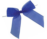 Pretied Solid Organza Bow w/Wire Twist
