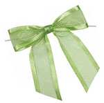 Pretied Organza Bow With Satin Edge and Wire Twist