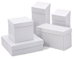 White High Walled 2 Piece Box w/Rigid Setup Lids