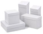 White High Walled 2 Piece Box w/Rigid Setup Lids