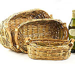 Long Oval Willow Tray