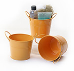 5 inch Orange Painted Side Handle Pail