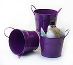 5 inch Purple Side Handle Pail