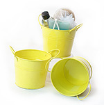 5 inch Bright Yellow Side Handle Pail