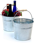 8 1/2in. Galvanized Pail Wooden Handle