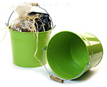 8 1/2in. Lime Green Pail Wooden Handle