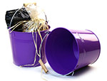 8 1/2in. Purple Pail Wooden Handle