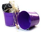 8 1/2in. Purple Pail Wooden Handle