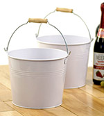 8 1/2in. White Pail Wooden Handle