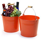 8 1/2in. Tangerine Pail Wooden Handle