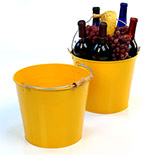 10in. Goldenrod Painted Pail Wooden Handle