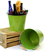 10in. Lime Green Pail Wooden Handle
