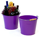 10in. Purple Pail Wooden Handle