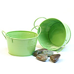 5 inch Mini Lime Green Tub Pails