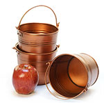 5 in. Round Copper Painted Handle Pail