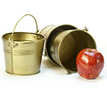 5 in. Round Gold Painted Handle Pail