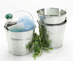 Galvanized Pails w/Metal Handle