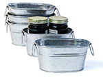 6 in.Oval Galvanized Tub