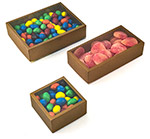 Gold Sided Clear View Top PET Candy Boxes