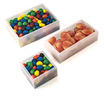 White Sided Clear View Top PET Candy Boxes