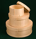 Round Wooden Cheese Boxes