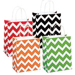 Chevron Print Paper Shopping Bags