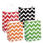 Chevron Print Paper Shopping Bags