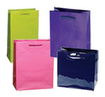 Classic Laminated Euro Paper Shopping Totes w/ Rope Handles