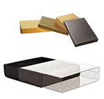 Clear Slide Cover Stationery Boxes with Colored Bases