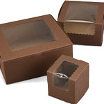 Ohio Valley Cocoa Window Cupcake Boxes