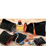 Black Velvet w/ Satin Lining Drawstring Jewelry and Gift Pouches