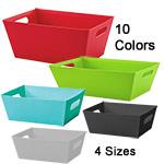 Solid Color Gift Basket Market Trays