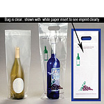 Clear Cork and Carry Wine Take Out Bags