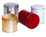 Cylinder Metallic Tins