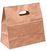 Brown Kraft Die-cut Take Out Bag