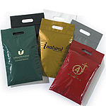 Die-Cut Handle Plastic Bags w/Zip-Loc Closure