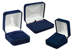 Econoline Blue Velour Jewelry Boxes Satin Inserts