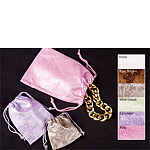 Design Leatherette Embossed Drawstring Pouches