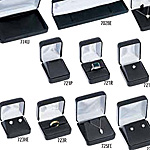Fillmore Leatherette Collection Flocked Jewelry Boxes w/Satin Inserts