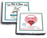 Custom Printed Claycoat White Pizza Boxes